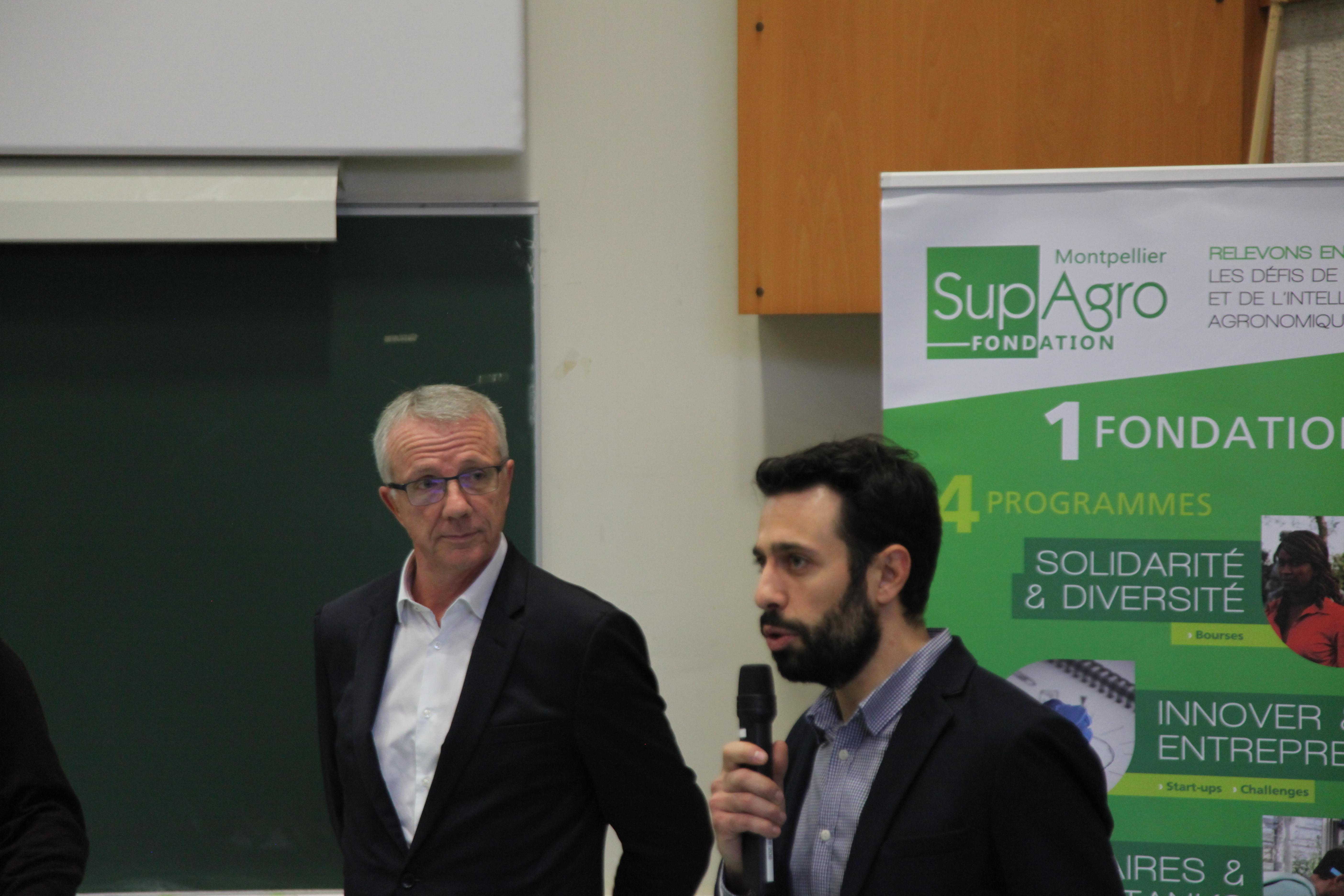 Matthieu Vezolles et le Pdt Michel Penet