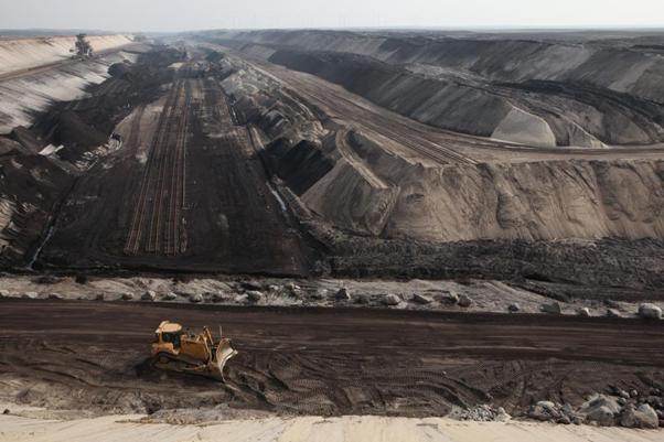 An immense coal mine