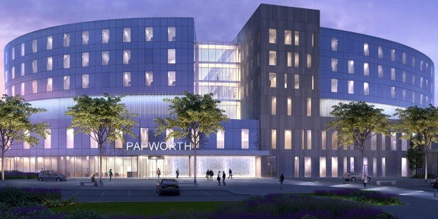An artist's impression of the new Royal Papworth Hospital