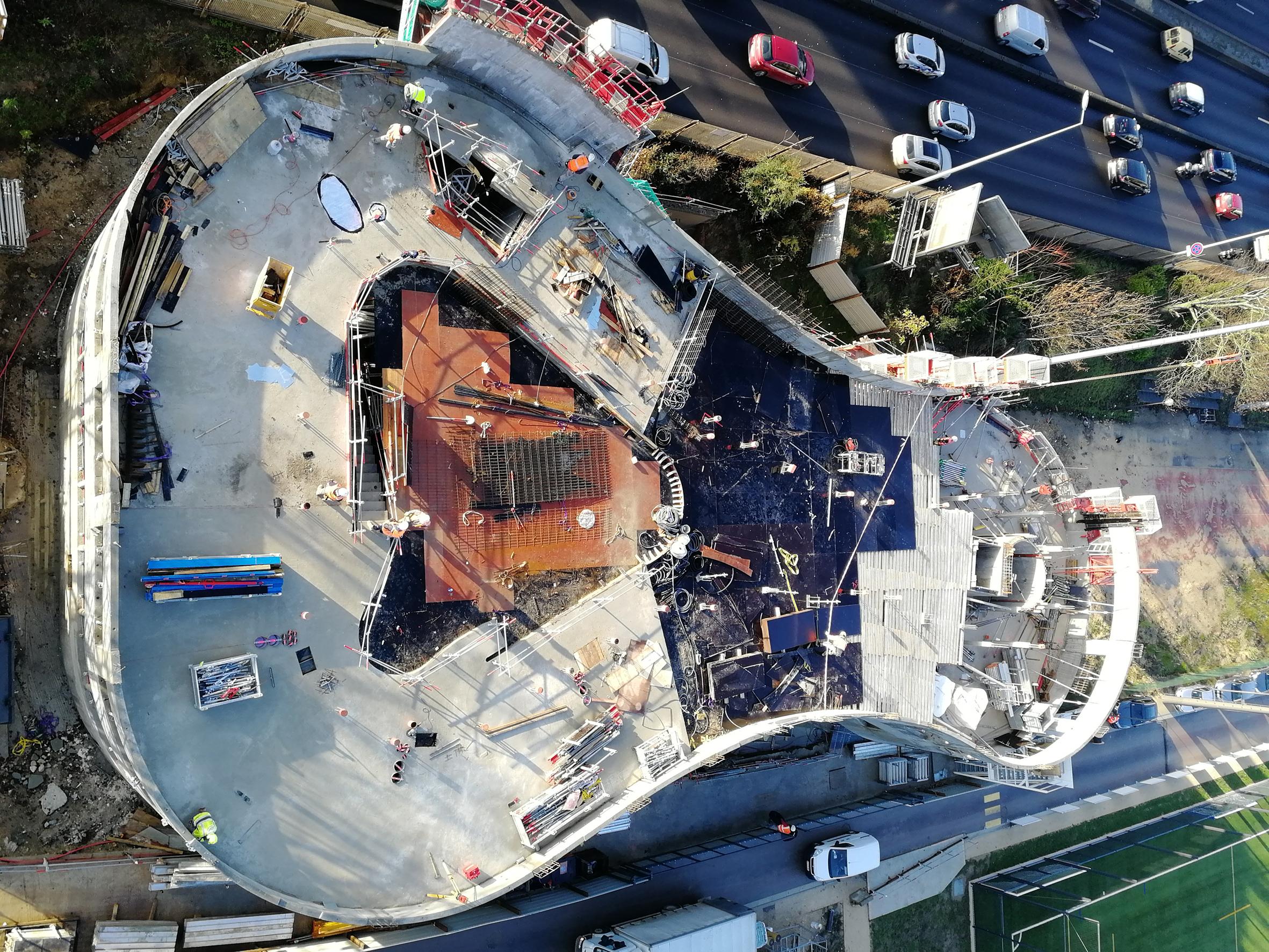 Le chantier du pavillon Pavillon Habib Bourguiba (Maison de la Tunisie)