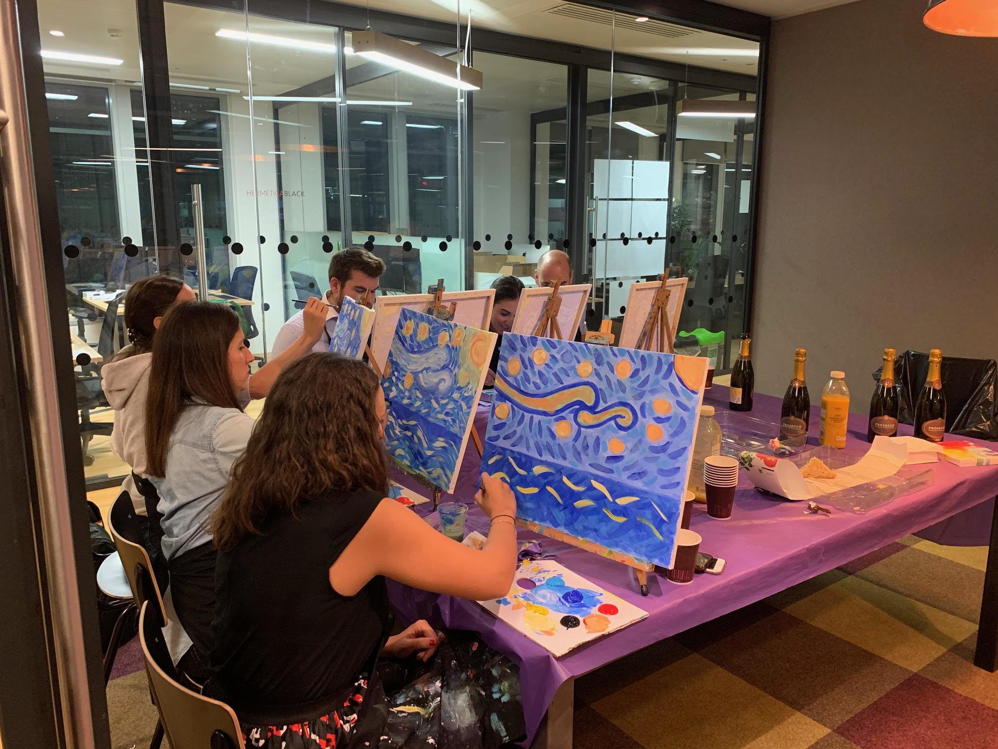 Clase de pintura y networking - Cunef Alumni