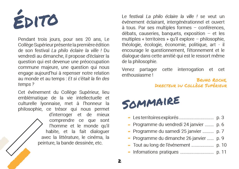 Edito de Bruno Roche, directeur du Collège Superieur