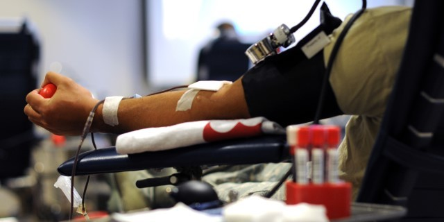 Donating blood