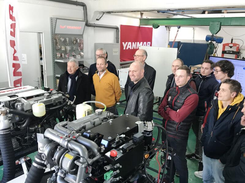 Inauguration du plateau de formation mécanique Yanmar à l'INB