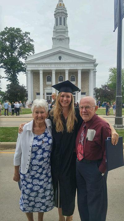 Augusta Finzel and her grandparents