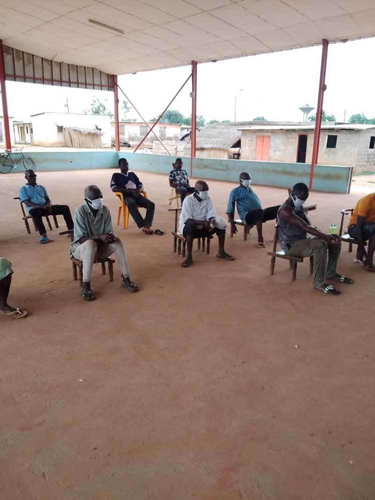 Social distancing in Cote d'Ivoire