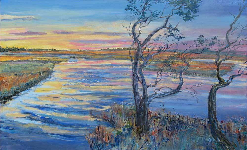 Sunset Salt Marsh