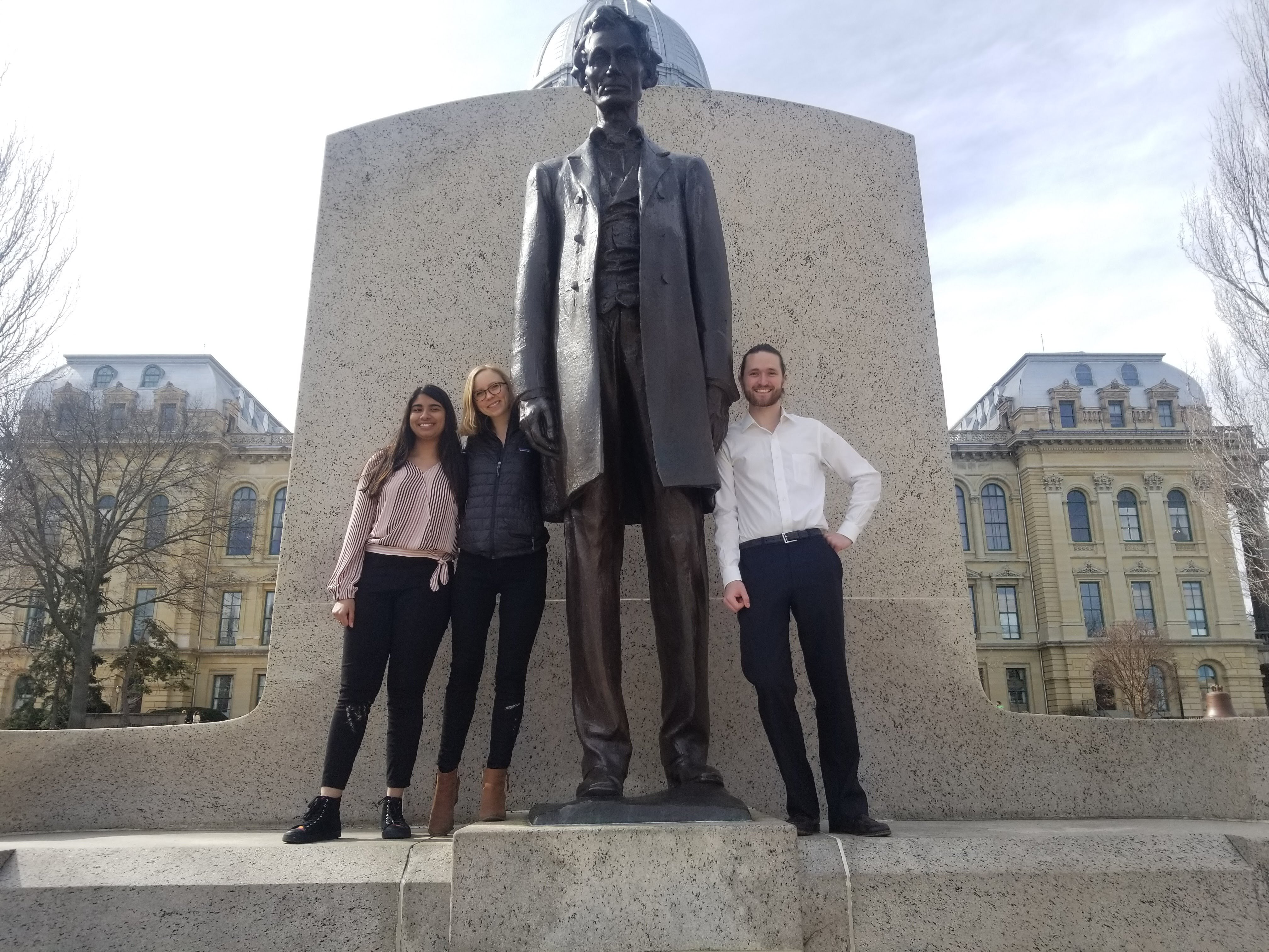 2018 Springfield trip with three members of Science Policy Outreach Taskforce