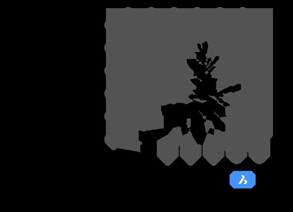 Beispiel einer 2D-Konstruktionszeichnung. (Erstellt mit BricsCAD®)