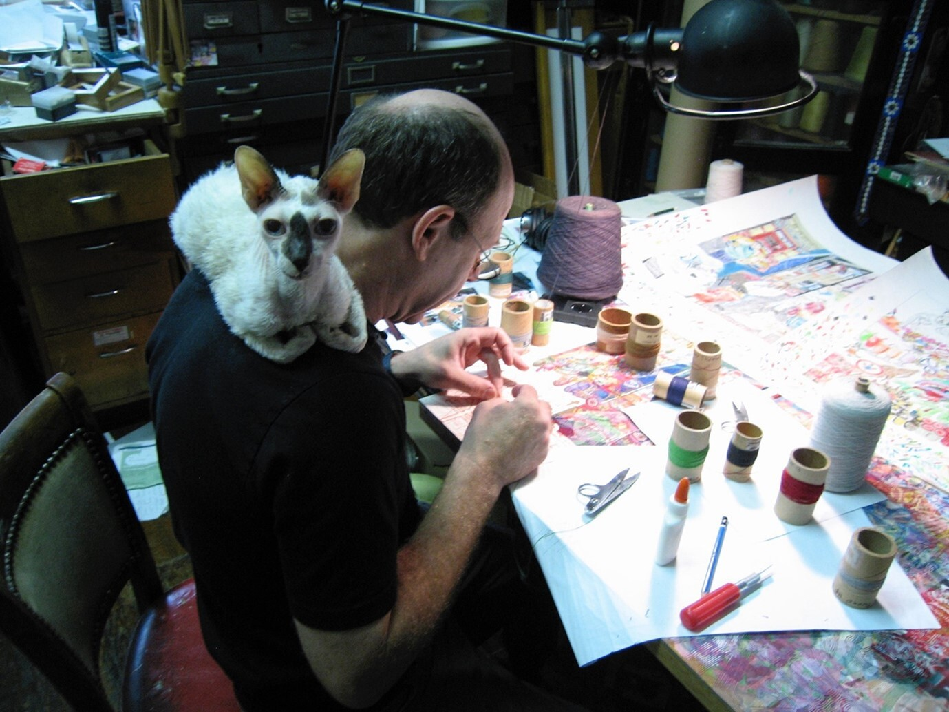 Robert Forman in his studio