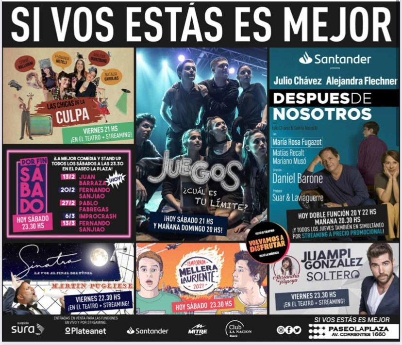 Promotional materials for the campaign to reopen Argentinian theatres