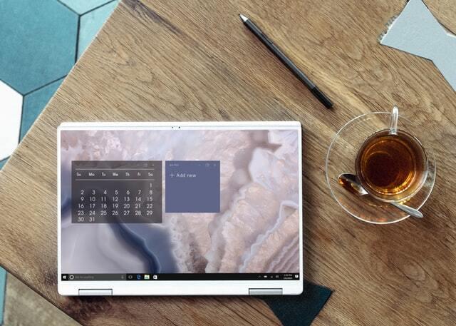 A digital calendar on a table