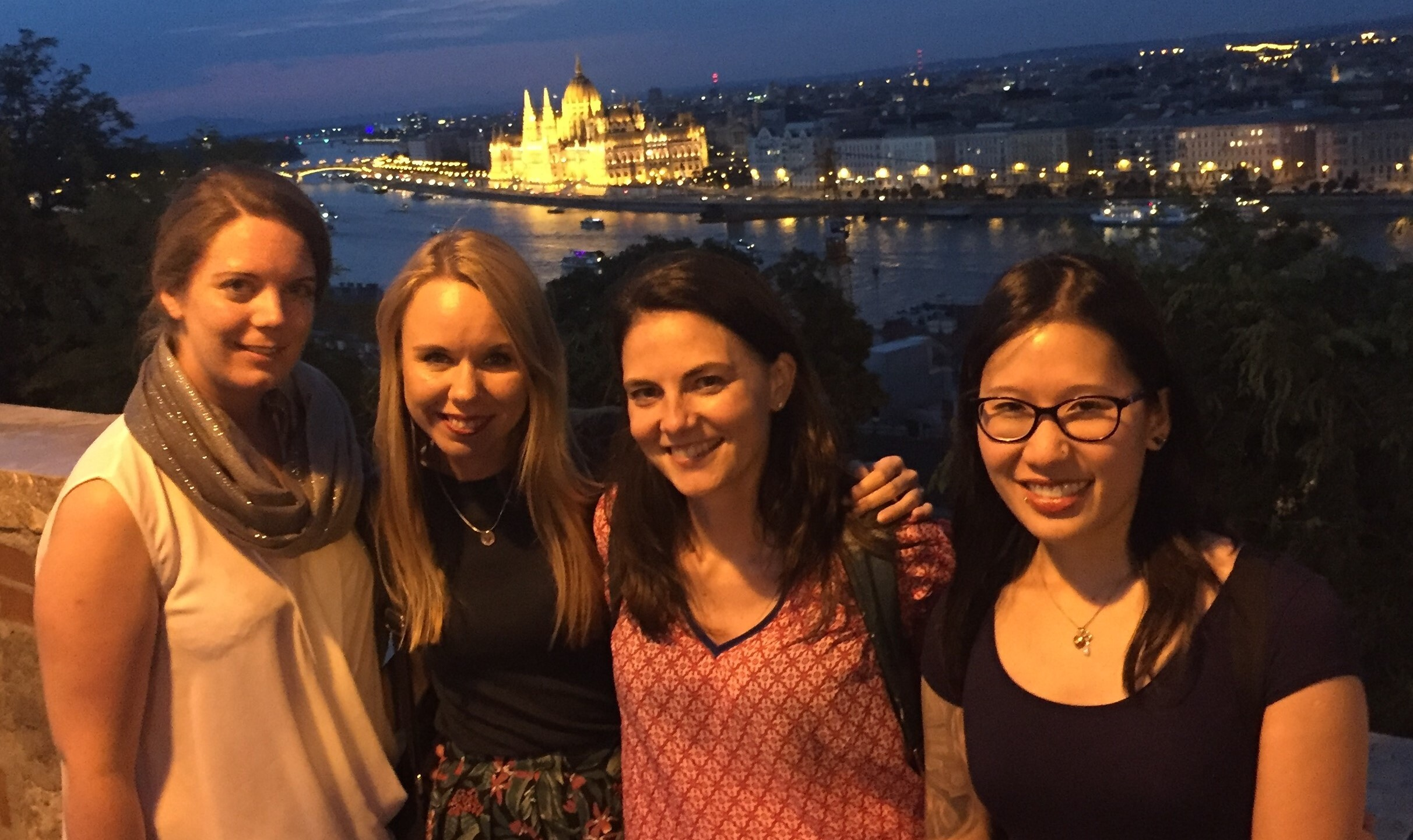 Dr Simoes with colleagues in Budapest, Hungary, for a Zebrafish meeting