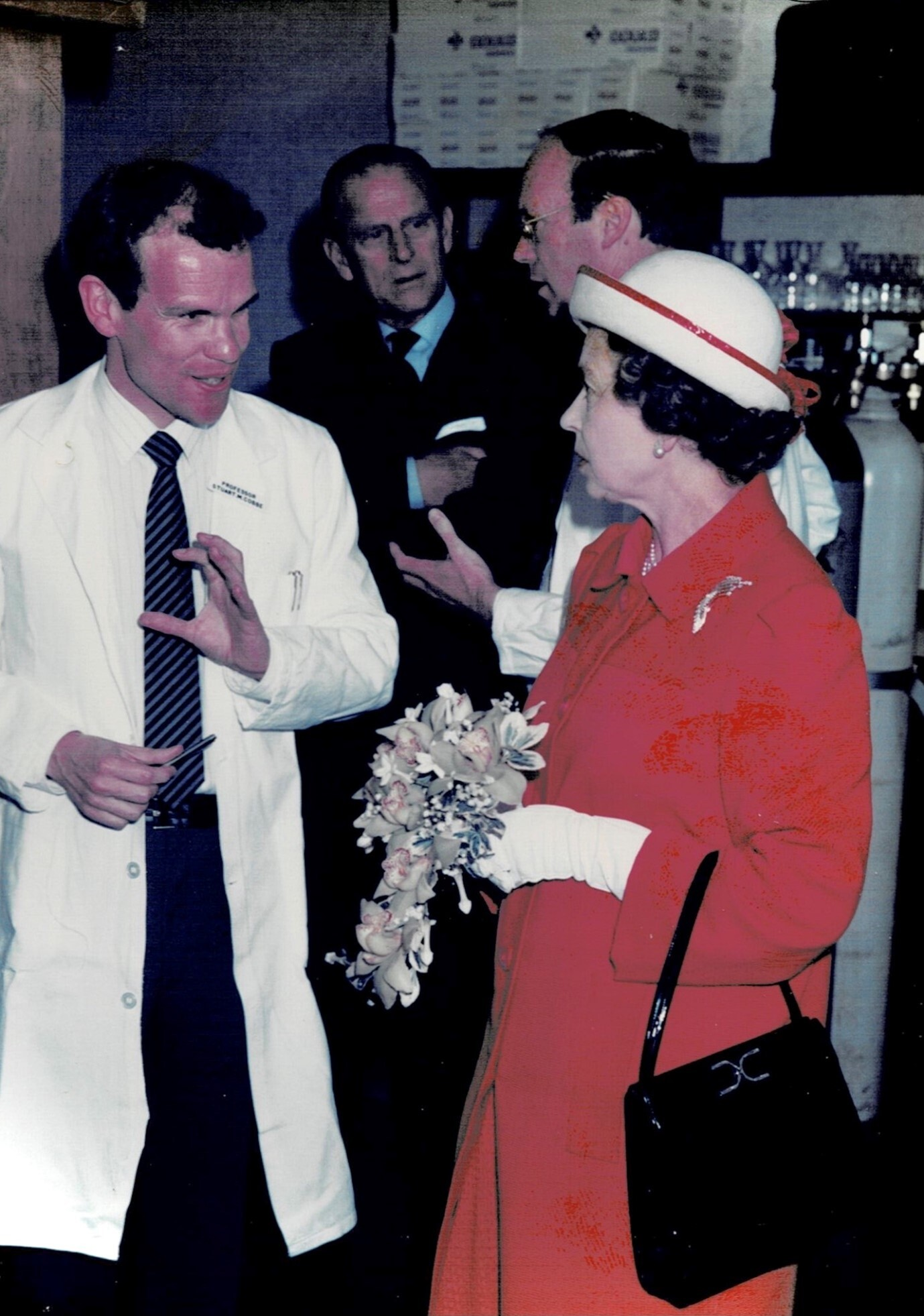 Stuart Cobbe with HM the Queen and Prince Philip, the Duke of Edinburgh