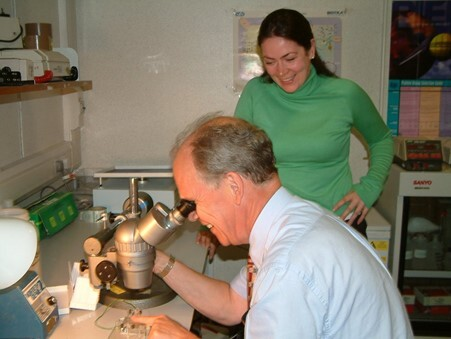 Professor Stuart Cobbe with PhD Student Rachel Myles