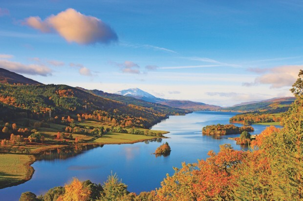 A view of the Perthshire landscape