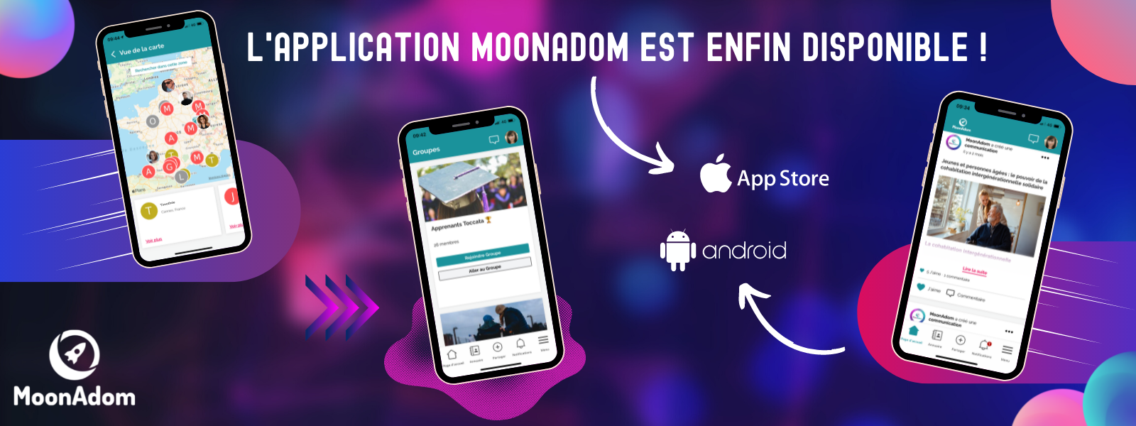 L'application MoonAdom est sortie ! Téléchargez-la vite sur Androïd et sur l'Appstore !