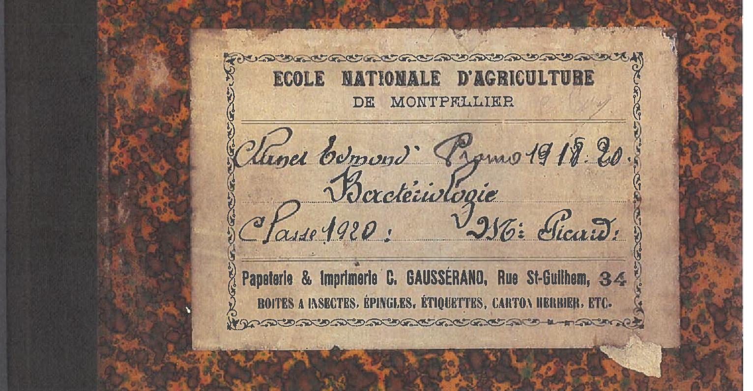 Cours de Bactério 1920