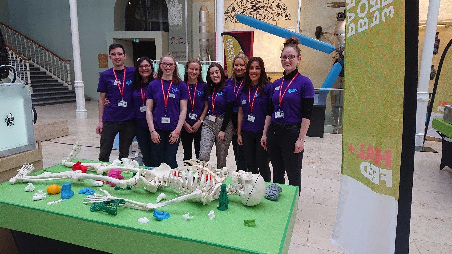 Cara Trivett with fellow students at the Edinburgh Science Festival