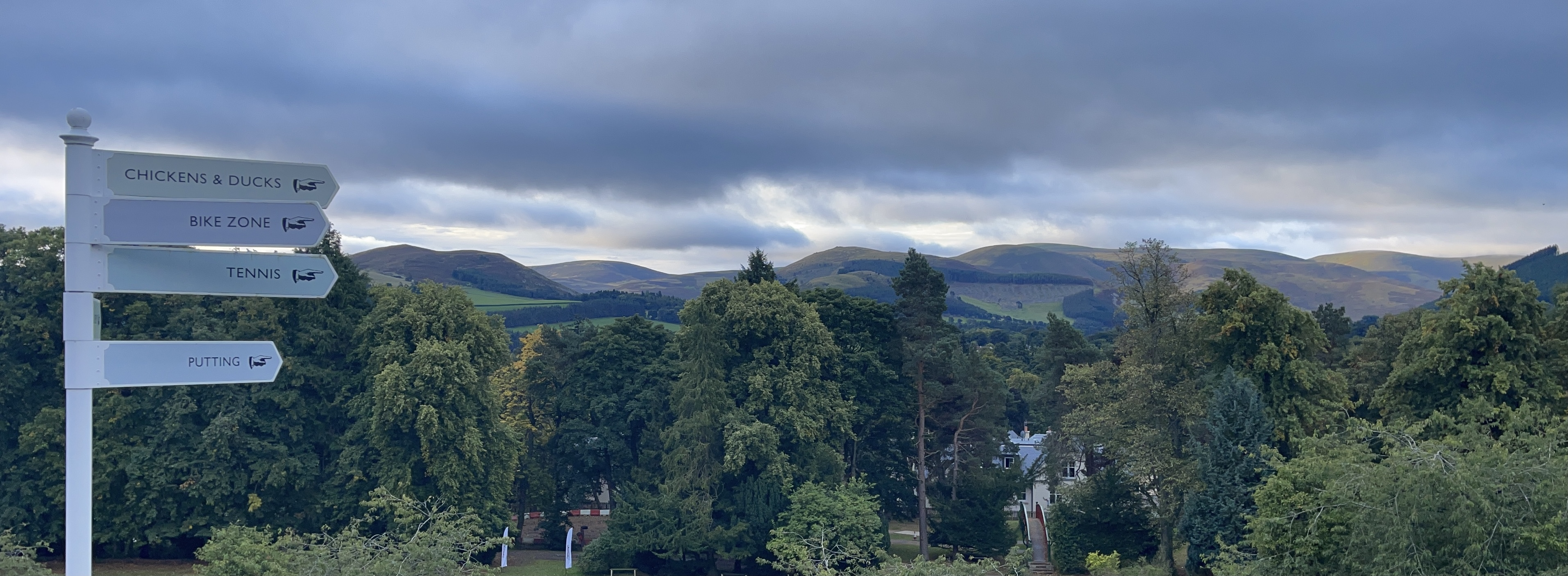 The view from the Peebles Hydro