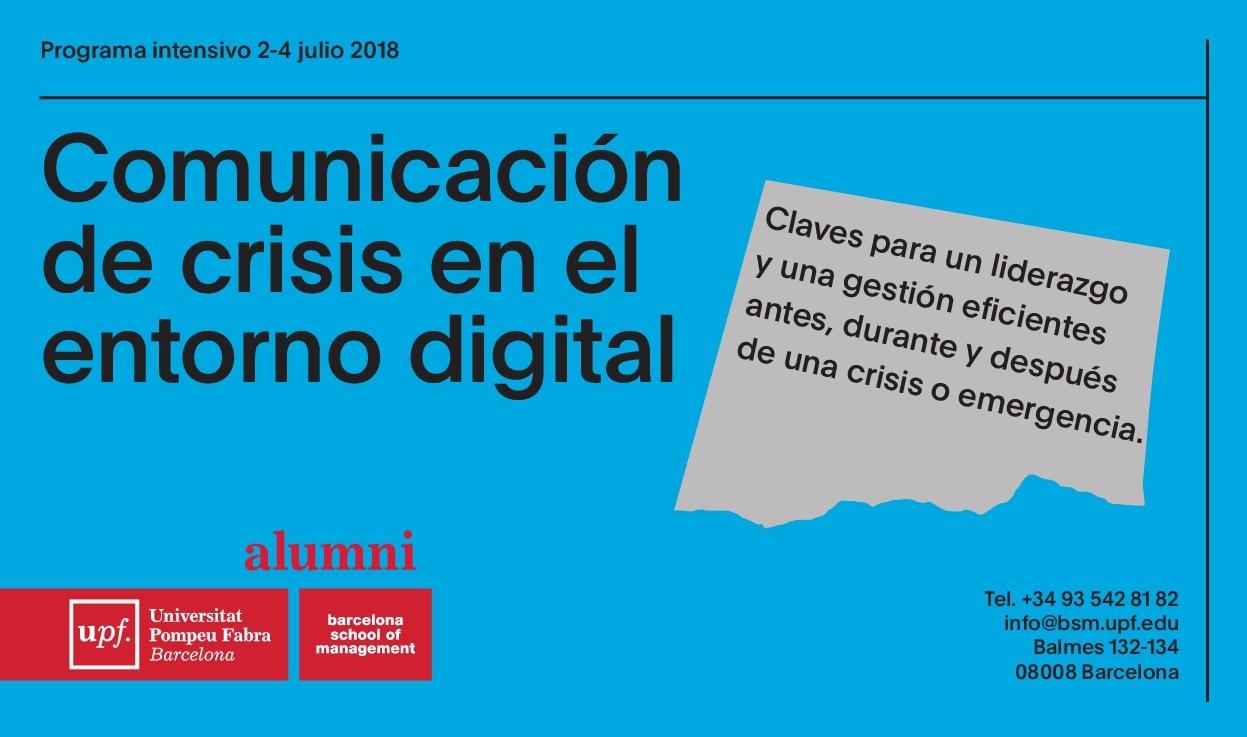Curso de Comunicación de Crisis en el Entorno Digital de la UPF Barcelona School of Management
