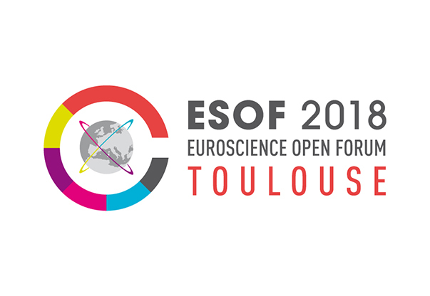 The logo of the Euroscience Open Forum 2018 in Toulouse.